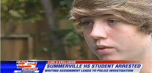 INSANITY: Student Arrested For Writing About Shooting A Gun