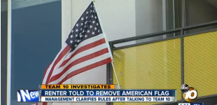 Renter Forced To Remove Flag, Might Offend Foreign Students