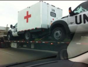 UN medical truck
