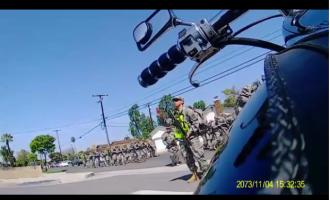 Armed California National Guard Patrols Residential Streets