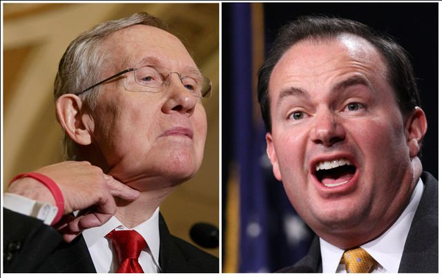 Senators Harry Reid and Mike Lee