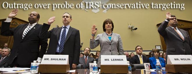 Outrage over Conservative IRS harasment probe