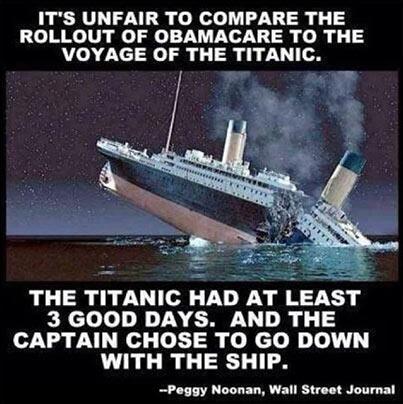ObamaCare vs Titanic