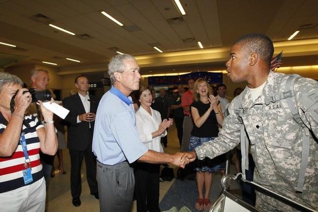 George W Bush thanks veterans