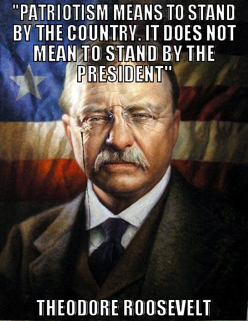 Theodore Roosevelt Quotes: Patriotism Means To Stand By The Country. It Does Not Mean