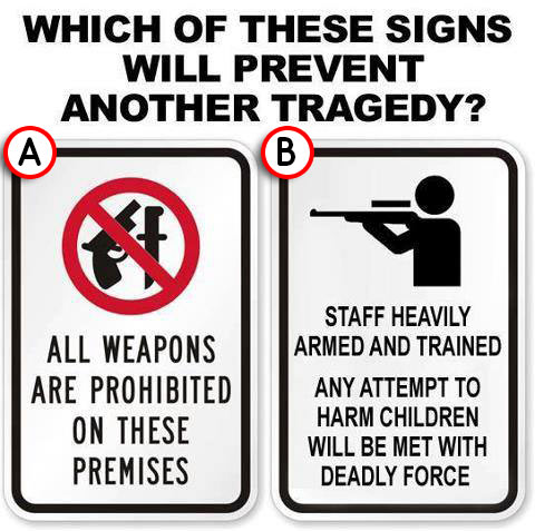 Which of these signs is more likely to prevent tragedy?